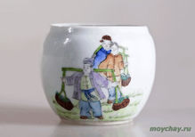 Antique cup # 864 hand-painted 150 ml