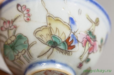 Antique cup # 899 hand-painted 40 ml