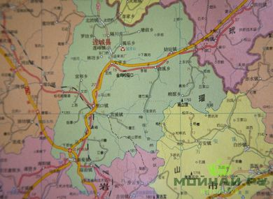 Map of the province of Fujian in Chinese 106x76 cm