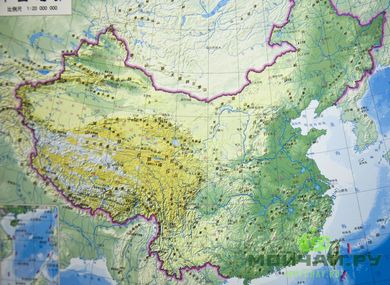 Map of China in Chinese 150 * 100 cm