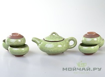 Tea ware set # 801 ice crack porcelain teapot 180 ml 6 cups 50 ml