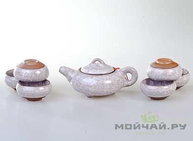 Tea ware set # 796 ice crack porcelain teapot 150 ml cup 50 ml