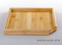 The tea tray for compressed tea crushing # 4 bamboo 23*23 cm