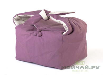 Textile bag for storage and transportation of teaware # 39