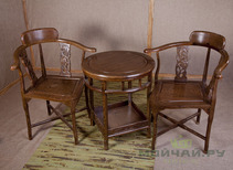 Furniture set: table and 2 chairs wenge