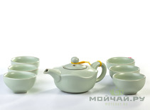Tea ware set # 863 porcelain teapot 6 cups