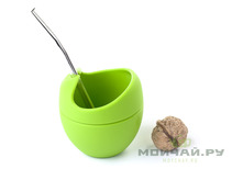 Vessel for mate silicone and bombilla set # 18 green 200 ml