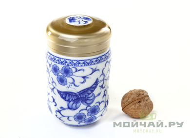 Tea travel flask # 1 porcelain 300 ml