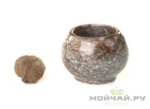 Vessel for mate kalabas clay  handmade # 246  145 ml