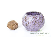 Vessel for mate kalabas clay  handmade # 235  145 ml