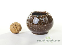 Vessel for mate kalabas clay  handmade # 238  145 ml