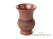 Vessel for mate kalabas clay  handmade # 265 175 ml