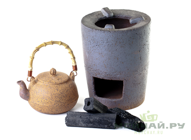 Bamboo smokeless coal for boiling water in enclosed spaces
