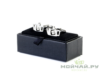 "Cufflinks ""Moychay"" # 16680 metal"