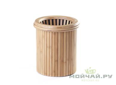 The bucket for teatray with drain # 17493 bambooplastic  4000 ml