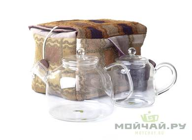 Textile bag for storage and transportation of teaware # 17602