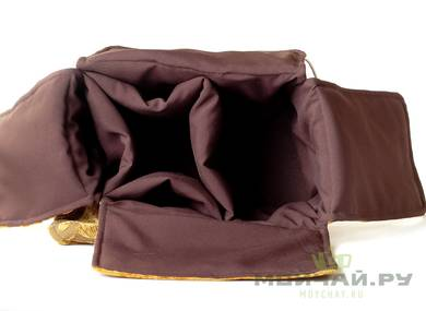 Textile bag for storage and transportation of teaware # 17606