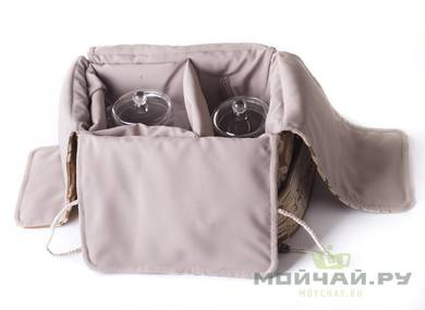 Textile bag for storage and transportation of teaware # 17612