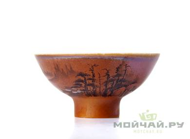 Cup # 18290 ceramic wood firing wood firing hand painting 62 ml