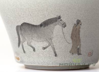 Cup # 18729 porcelain  handmade painting 130 ml