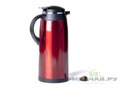 Thermos with a  bulb # 20534 metal 1600 ml red