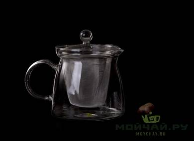 Tea kettle with metal sieve 700 ml refractory glass