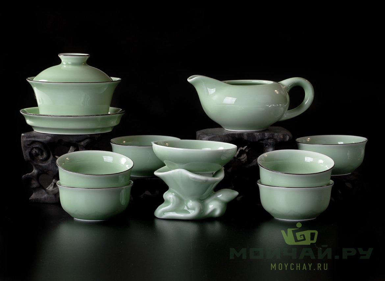 Teaset# # 21331 porcelain Gaiwan 100 ml Teamesh Pitcher 154 ml 6