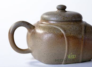 Teapot # 21663 yixing clay wood firing 170 ml