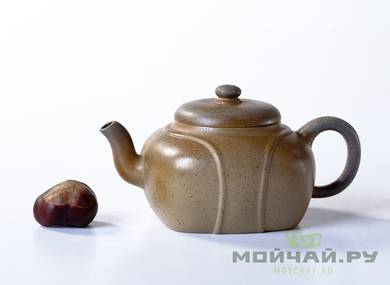 Teapot # 21661 yixing clay wood firing 170 ml