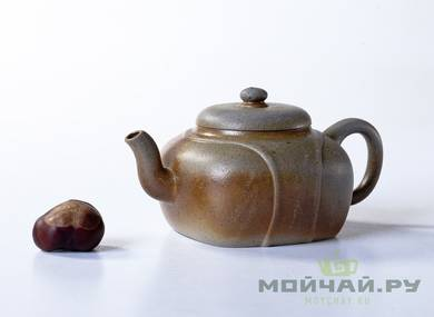 Teapot # 21659 yixing clay wood firing 170 ml