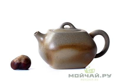 Teapot # 21653 yixing clay wood firing 176 ml