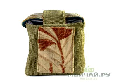 Textile bag for storage and transportation of teaware # 22415