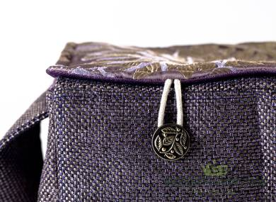 Textile bag for storage and transportation of teaware # 22413