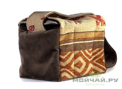 Textile bag for storage and transportation of teaware # 22404