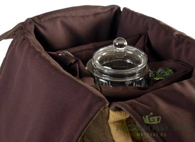Textile bag for storage and transportation of teaware # 22420