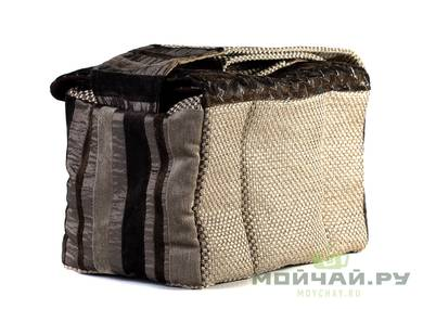 Textile bag for storage and transportation of teaware # 22419