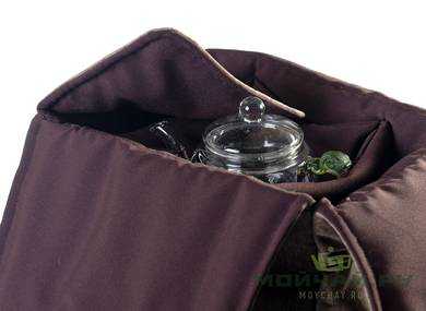 Textile bag for storage and transportation of teaware # 22417