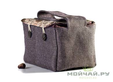 Textile bag for storage and transportation of teaware # 22416