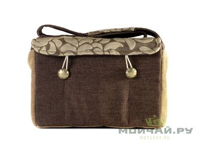 Textile bag for storage and transportation of teaware # 22423