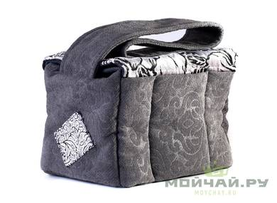 Textile bag for storage and transportation of teaware # 22411