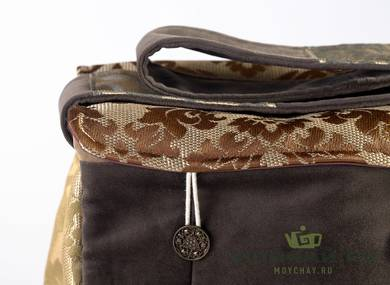 Textile bag for storage and transportation of teaware # 22409