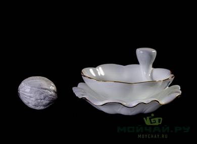Set for tea ceremony 9 items # 23269 porcelain: gaiwan 188 ml six cups 66 ml gundaobey 236 ml teamesh