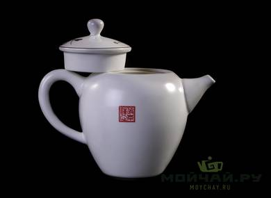 Teaset # 23467 porcelain 11 items: teapot 260 ml teaboat gaiwan 150 ml 6 cups 65 ml teamesh gundaobey 220 ml