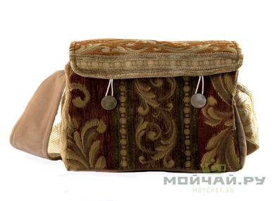 Textile bag for storage and transportation of teaware # 23455