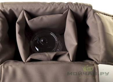 Textile bag for storage and transportation of teaware # 23453