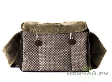 Textile bag for storage and transportation of teaware # 23447