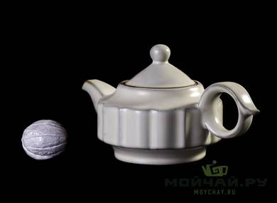 Set for tea ceremony 10 items # 23554 ceramic: tea boat 120 ml gundaobey 180 ml teapot 180 ml teamesh 6 cup with stand 50 ml