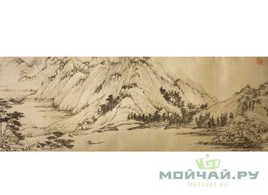 Cha Xi canvas for tea ceremony # 24767