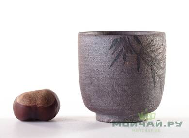 Cup # 24983 ceramic hand painting wood firing 80 ml