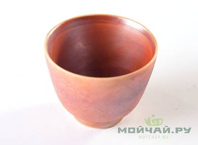 Cup # 25011 ceramic hand painting wood firing 80 ml